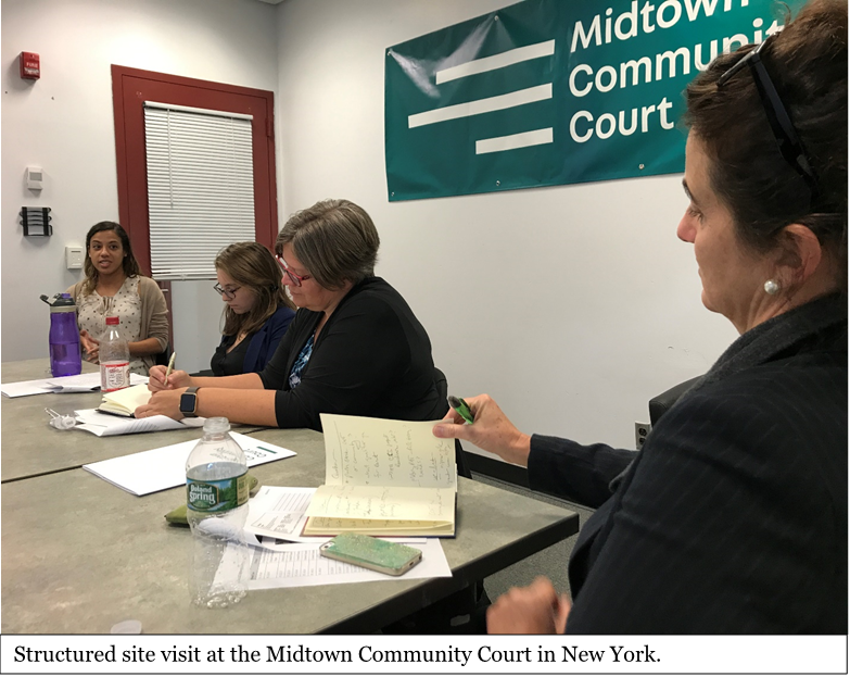 Photo: Structured site visit at the Midtown Community Court in New York.